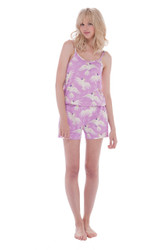 Cockatoo Jersey V-Neck Cami and Short Romper
