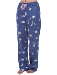 Cat Hide and Seek Flannel Pant (M01437)