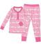 Pink Elephants Long John PJ Set (MK01020)