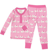 Pink Elephants Long John PJ Set (MK01020)
