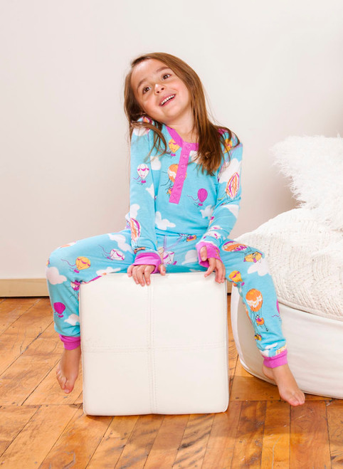 Hot Air Balloons Long John PJ Set (MK01022)
