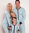 Blue Polar Bears Family Sleep