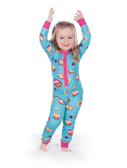 Breakfast in Bed Kids Union Suit