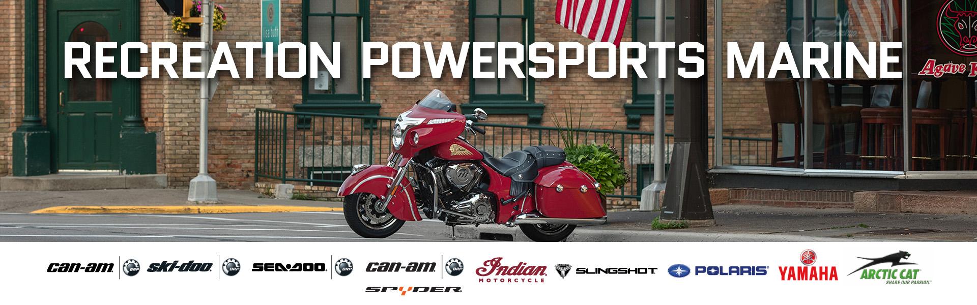 Can-am, Ski-doo, Sea-doo, Can-am Spyder, Indian Motorcycle, Slingshot, Polaris, Yamaha, Arctic Cat
