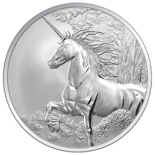 Creatures of Myth & Legend - Unicorn 1oz Silver Reverse Proof  Tokelau Coin - Reverse