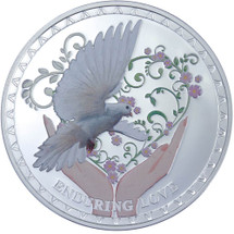 Messages of Love - 2012 Enduring Love 20g Silver Coloured Proof Tokelau Coin - Reverse