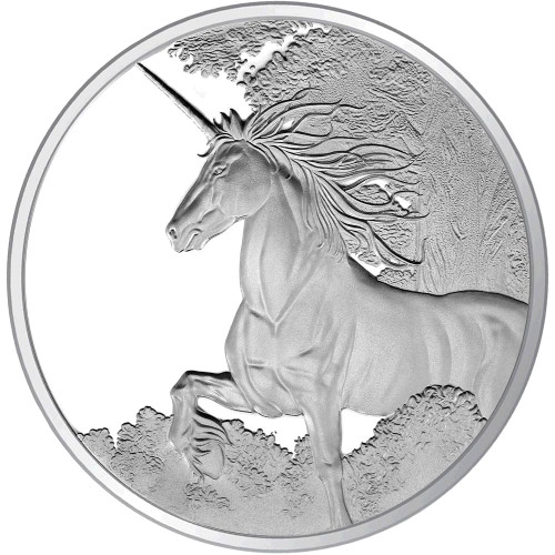 Creatures of Myth & Legend - 2014 Unicorn 1oz Silver Proof Tokelau Coin - Reverse