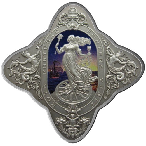 2014 Lady of Fortune 1oz Silver Coloured Antique Tokelau Coin -