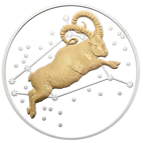 2015 Creatures of Myth & Legend - Aries 1oz Silver Gilded Proof Tokelau Coin from Treasures of Oz