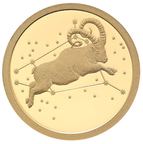 2015 Creatures of Myth & Legend - Aries 0.5g Gold Proof Tokelau coin from Treasures of Oz