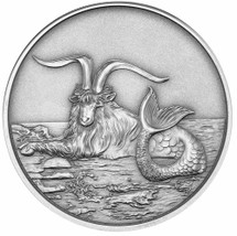2015 Creatures of Myth & Legend - Capricornus 1oz Silver Antique Tokelau Coin by Treasures of Oz
