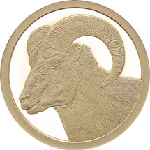 2015 Big Horned Ram 0.5g Gold Proof Congo coin from Treasures of Oz
