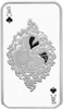 Ace of Clubs, 1oz pure silver Tokelau Coin 2015