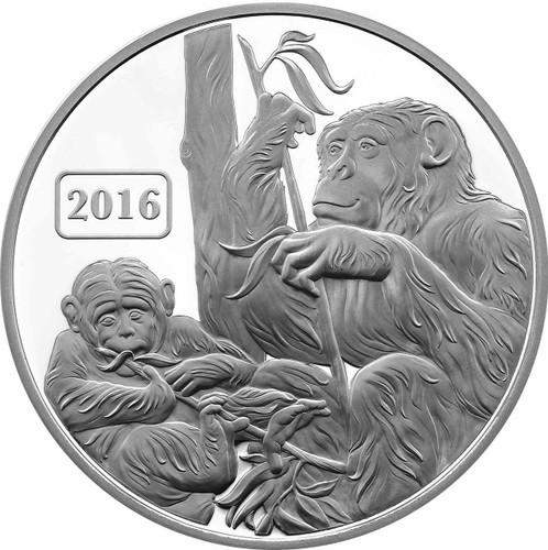 Monkey Family 1oz Proof Tokelau coin