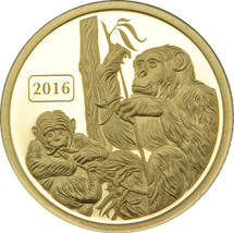 Monkey Family 0.5g Pure Gold Tokelau Coin