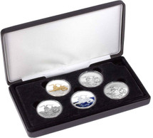 Capricornus Typeset Collection is limited to just 150 sets and contains five 1oz pure silver coins in a variety of finishes