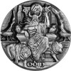 Stunning Max Relief reverse of Tokelau's Odin, Ruler of the Aesir 3oz Silver Coin