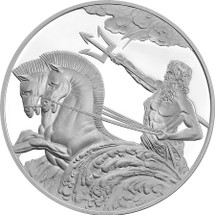 Poseidon 1oz Proof Silver Tokelau Coin