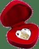 Bride & Groom heart-shaped Tokelau Silver Coin 2018 in presentation case