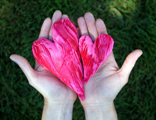 """Candi Andi 4"""" & 6"""" Crushed Velvet Heart Pillow Sachets"""