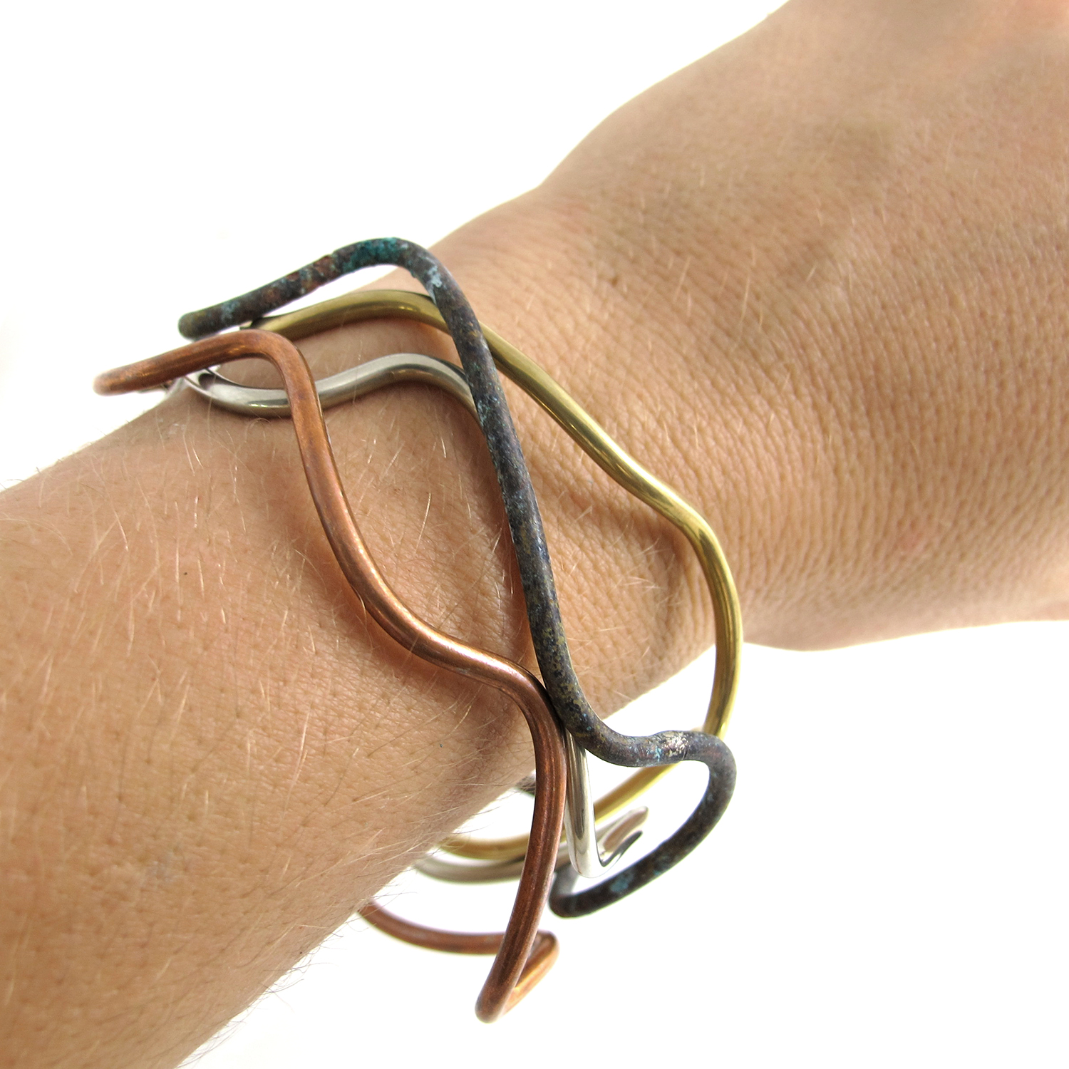 Wire Wave Bangles