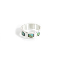 unisex turquoise square ring