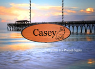 Oval for Cat or other pet name.   Add on to main sign.  Custom Carved Wood Sign.