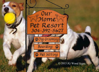 Wood Signs - Personalized Pet Resort Sign -  Custom Name Sign - with sign holder optionJG Wood Signs - Outdoor Wood Sign