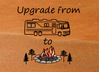 Upgrade - From Camping Graphic to Colored Campfire Pine Tree Graphic