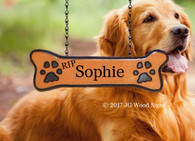 Carved Camp Sign Pet Name - Dog bone Add on - Wooden Name Sign - Dog bone with Pawprints - JGWoodSigns - Personalized Sign