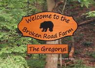 Cabin Sign Bear RV Camping Name Sign - Custom Carved Wood Sign JGWoodSigns Custom Camping Sign