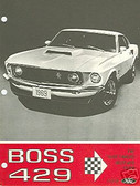 1969 69 MUSTANG BOSS 429 SALES BROCHURE