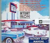 1958 1959 1960 CORVETTE SHOP/BODY /PARTS MANUAL ON CD