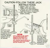 1968 OLDSMOBILE 442/F-85/CUTLASS JACK INSTRUCT DECAL