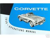 1958 58 CORVETTE OWNERS MANUAL