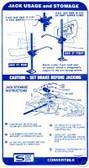 1967 FIREBIRD CONVERTIBLE JACK INSTRUCTION DECAL