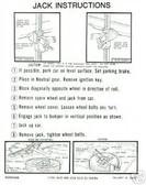 1963 1964 DART/VALIANT JACK INSTRUCTION DECAL