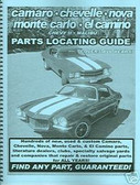 65 67 68 69 70 71 72 CHEVELLE/SS PARTS LOCATING GUIDE