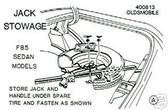 68 OLDS 442/CUTLASS/ JACK & SPARE(REG ) STORAGE DECAL