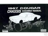 1967 67 MERCURY COUGAR CHASSIS ASSEMBLY MANUAL
