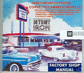 1969 CAMARO/Z28/SS/RS SHOP/BODY /PARTS MANUAL ON CD