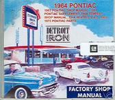 1964 PONTIAC GTO/TEMPEST SHOP/BODY /PARTS MANUAL ON CD