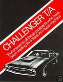 1970 DODGE CHALLENGER T/A SALES BROCHURE