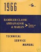1966 AMC RAMBLER /AMBASSADOR SERIES SHOP/BODY MANUAL