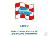 1969 69 FORD FAIRLANE FACTS & FEATURE MANUAL