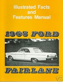 1965 FORD FAIRLANE FACTS & FEATURE MANUAL
