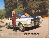 1966 66 SHELBY G.T. 350 SALES BROCHURE