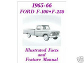 1965 1966 F100-F250 FORD TRUCK FACTS MANUAL