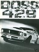 1970 70 MUSTANG BOSS 429 SALES BROCHURE