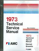 1973 AMC JAVELIN/AMX/HORNET/AMBASSADOR SHOP/BODY MANUAL